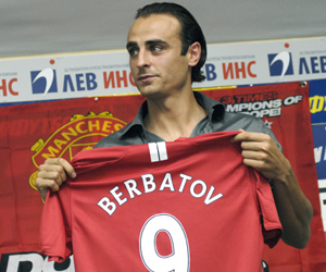 Bulgaria football star Dimitar Berbatov officially introduced before Manchester United