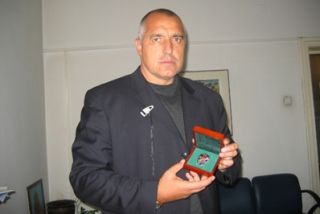 Boyko Borisov recieved a medal from the Russians